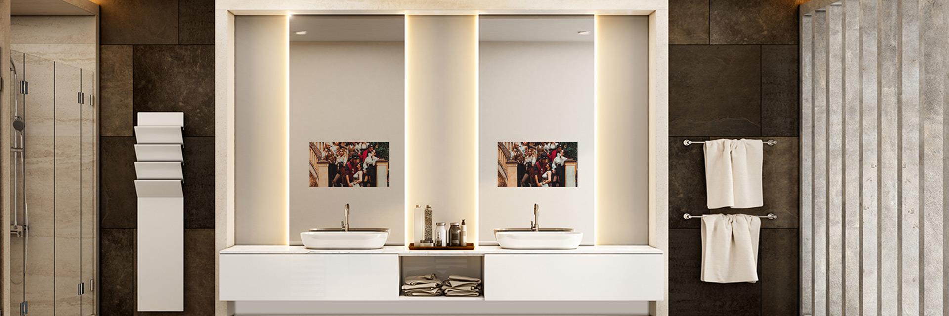 MirrorVue Mirror TV Integrated with Backlit Mirror