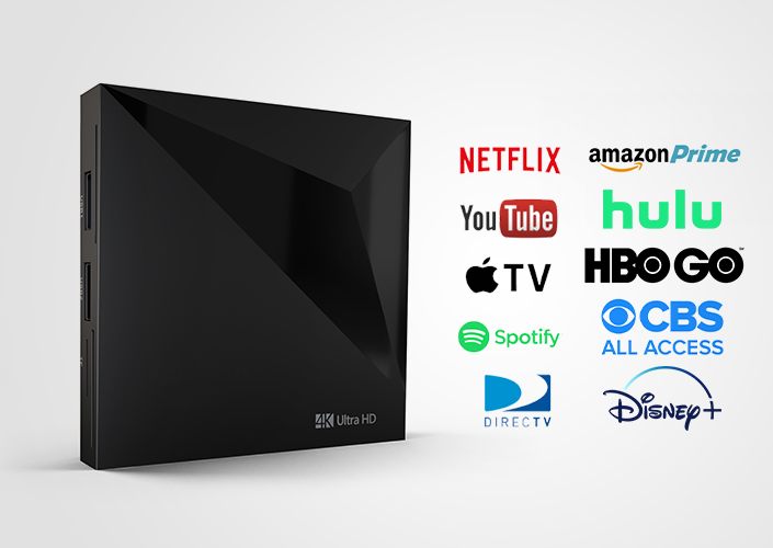 MirrorVue Mirror TV Set-Top Box compatible with Netflix, Youtube, Spotify, and Direct TV