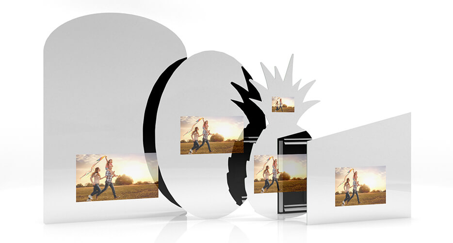 MirrorVue Mirror TV in custom shapes